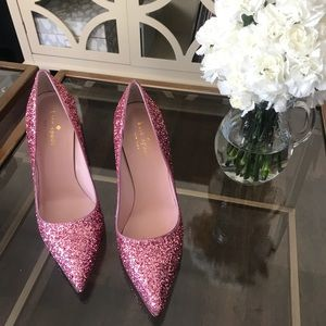 Kate Spade Pink Glitter Pumps! NWT